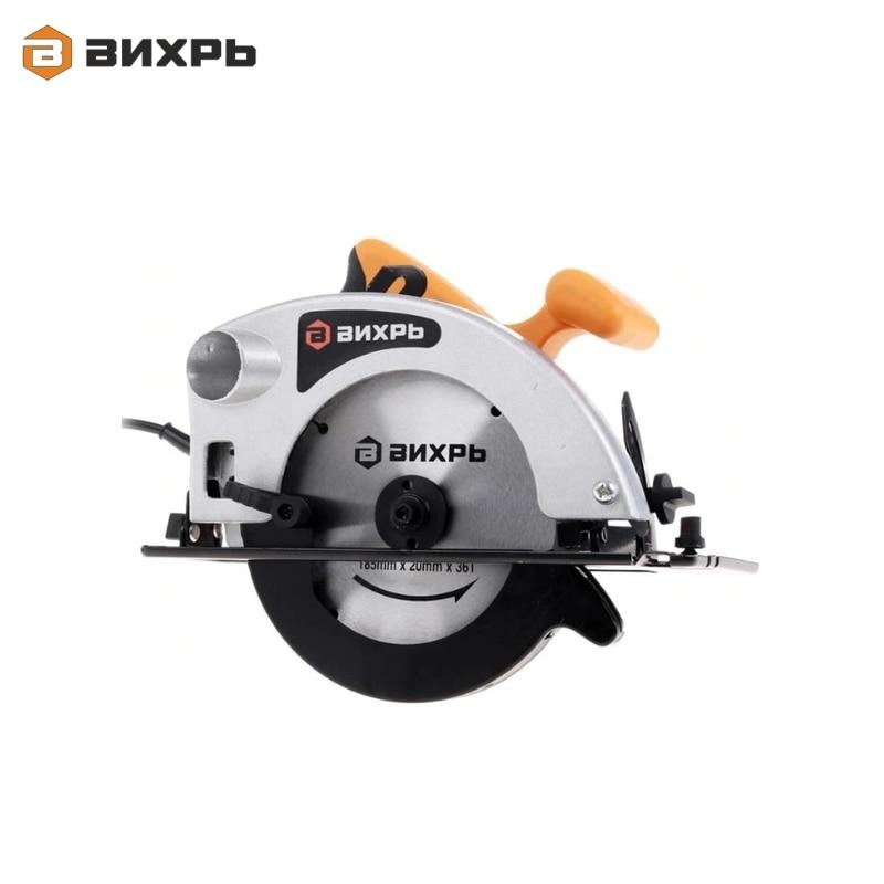 Electric circular saw Vihr DP-185/1600 kalibr epd 1700 185 electric circular saw for wood with a blade tool circle saw