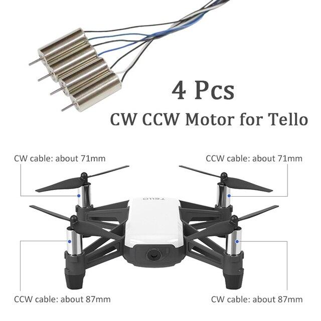 4 Pz/set per DJI Tello Motore In Senso Orario e Antiorario Motor per DJI TELLO CW CCW RC Motore Parte di Riparazione Accessori
