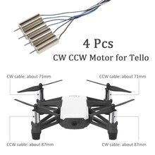 Dji tello 시계 방향 모터 및 반 시계 방향 모터 용 4 개/대 dji tello cw ccw rc 모터 수리 부품 액세서리