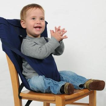 Opvouwbare Reis Kinderstoel.Baby Kinder Draagbare Opvouwbare Wasbare Veiligheidsgordel Voor