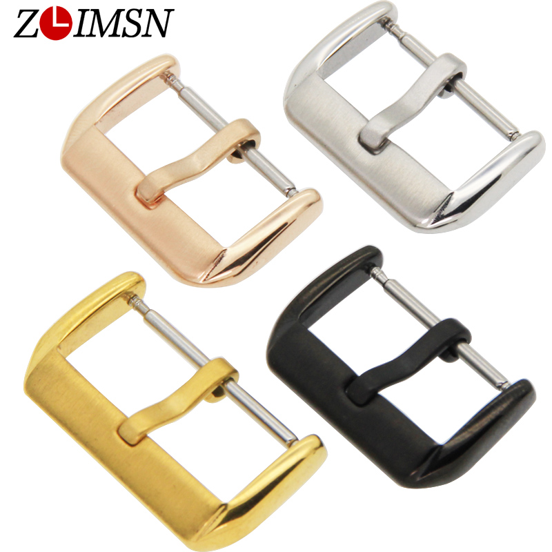 ZLIMSN Free Shipping 500pcs Watch Buckle Pure Solid Stainless Steel Watchbands Gold Watch Band Belt Buckle Relojes Hombre 2017