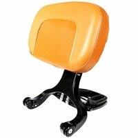 Gloss Black Multi Purpose Adjustable Driver&Brown Passenger Backrest For Harley Touring Dyna Sporster Honda Kawasaki