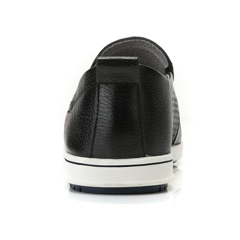캐멀 남성 신발 소프트 정품 가죽 통기성 펀칭 캐주얼 패션 경량 운전 남성 로퍼 비즈니스 신발 남성-에서남성용 캐주얼 신발부터 신발 의  그룹 3