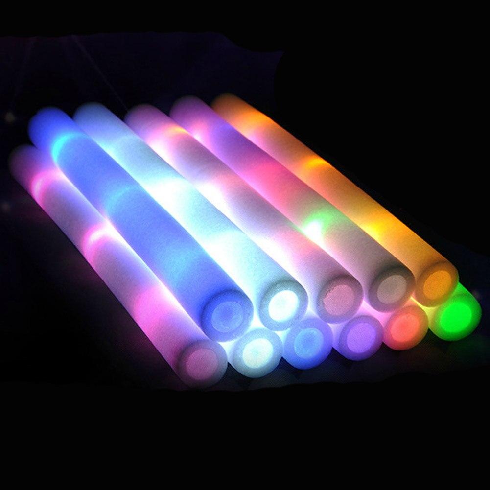 1 Pcs Light Up Multi Color Led Foam Stick Wands Rally Rave Cheer Batons Party Flashing Glow Stick Light Sticks