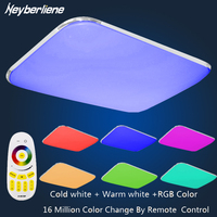 LED Ceiling Lights Lamp Luminaria Ceiling Light Lustre With 2 4G Remote Group Controlled Dimmable Color