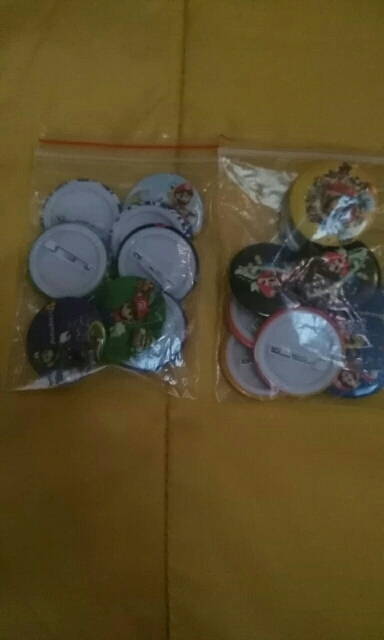 18Pcs Super Mario Bros Cartoon Button Pin Round Brooch Badges,Bags Decorate,fashion badges kids party gift photo review