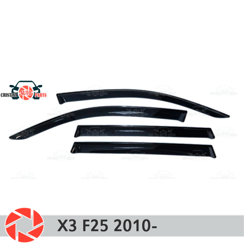 Window deflector for BMW X3 F25 2010- rain deflector dirt protection car styling decoration accessories molding car styling for bmw