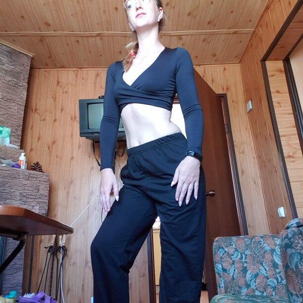 ForeFair Trend Cross Sexy Crop Top Women 2018 Wrap Slim Tops Black White Autumn Winter Long Sleeve T shirt Women
