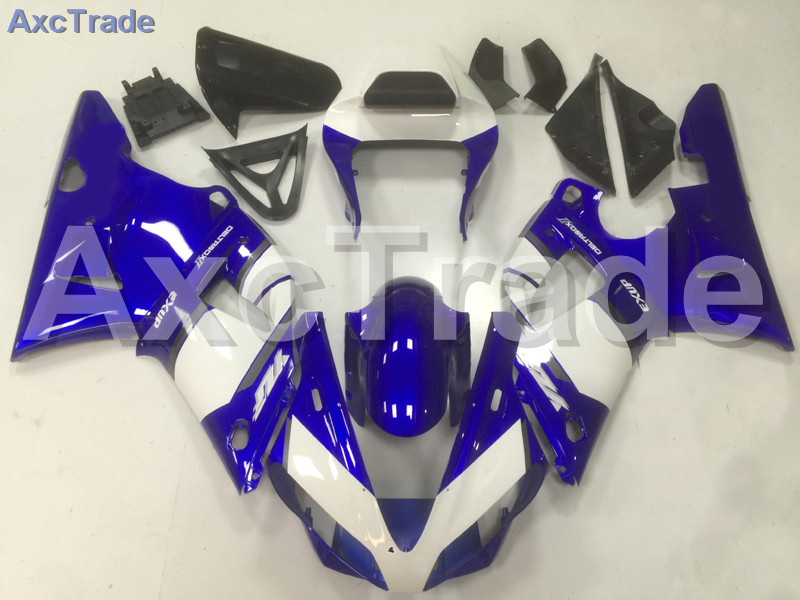 Motorcycle Fairings Kits For Yamaha YZF1000 YZF 1000 R1 YZF-R1 2000 2001 00 01 ABS Injection Fairing Bodywork Kit White Blue A34 fit for yamaha yzf 600 r6 1998 1999 2000 2001 2002 yzf600r abs plastic motorcycle fairing kit bodywork yzfr6 98 02 yzf 600r cb20