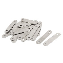 цены UXCELL 38Mm X 8Mm Flat Corner Brace Brackets Straight Mending Repair Plates 20Pcs