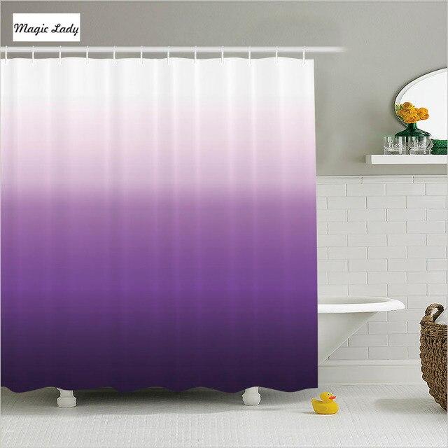 Shower Curtains Purple Bathroom Accessories Gradient Texture Pattern