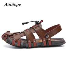 Mens Closed Toe Sandals Sport Hiking Sandal Athletic Walking Fishermen Outdoor Slippers Climbing Summer Beach Shoes