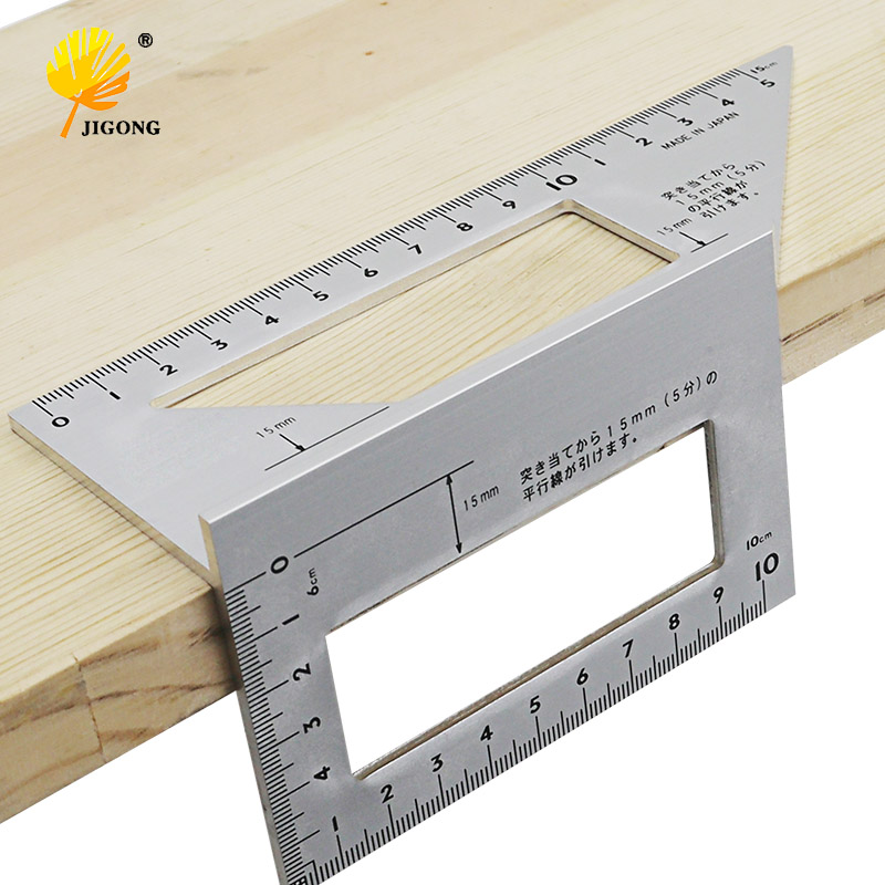 Aluminum Alloy woodworking Multifunctional Square 45 degrees 90 degrees gauge Angle Protractor Over the ruler