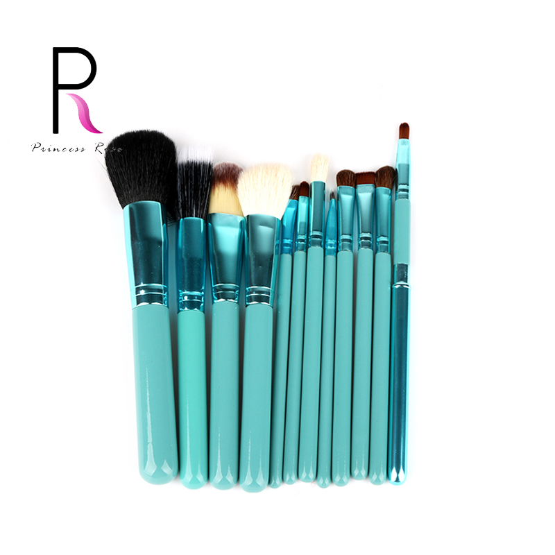 Princess Rose 12pcs Make Up Brush Set Makeup Brushes Kit Pinceis Maquiagem Pincel Pinceaux Maquillage makeup sponge blender blending puff flawless powder foundation make up sponge cosmetics maquiagem pinceaux de maquillage