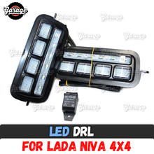 For Lada Niva 4X4 1995- LED DRL lights with running turn signal PMMA / ABS plastic function accessories car styling tuning(China)