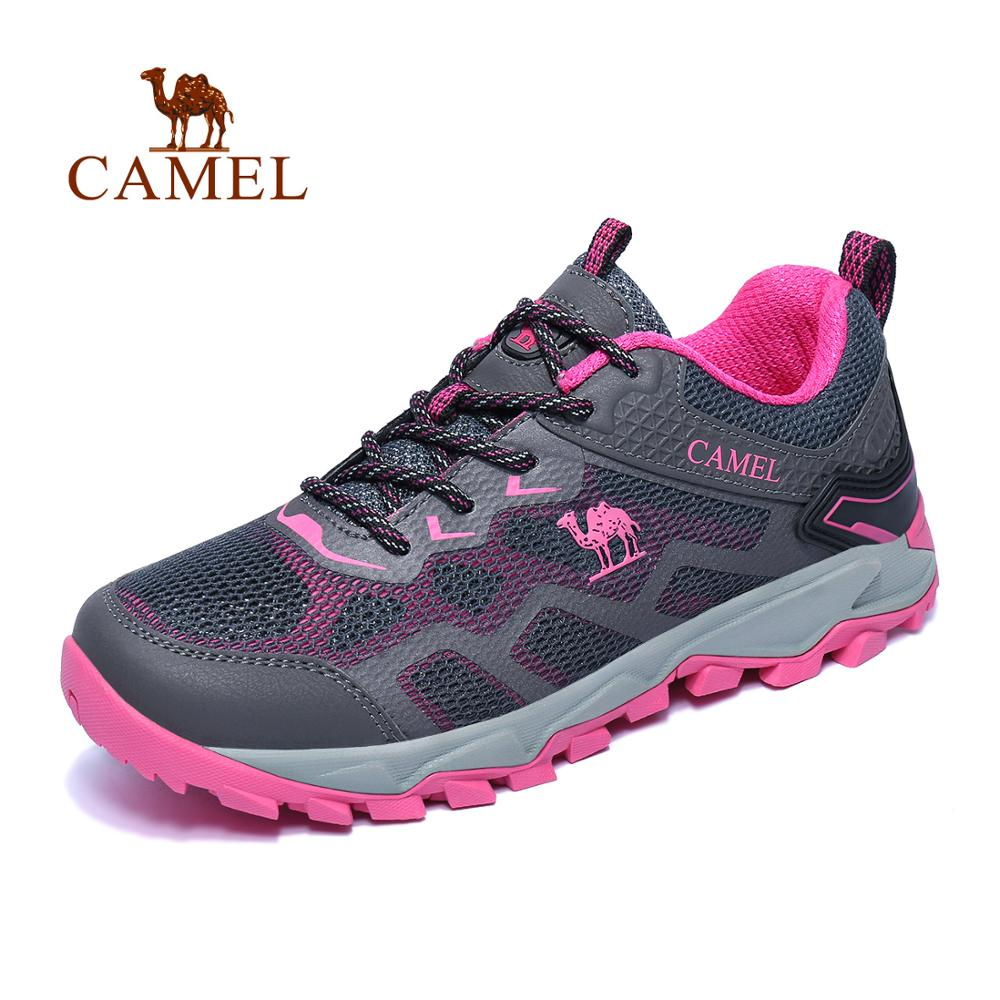 CAMEL Women Outdoor Hiking Shoes Non slip Breathable Durable Anti impact Comfortable Travel Hiking Trekking Trail