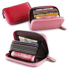 Men's Women's Faux Leather Pocket Business ID Credit Card Wallet Holder Case