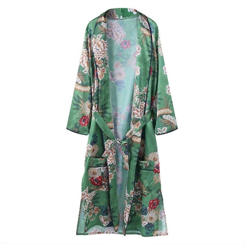 Boho Long Kimono Blouse Shirt Women Bandage Cardigan Jacket 2018 New Ethnic Flor