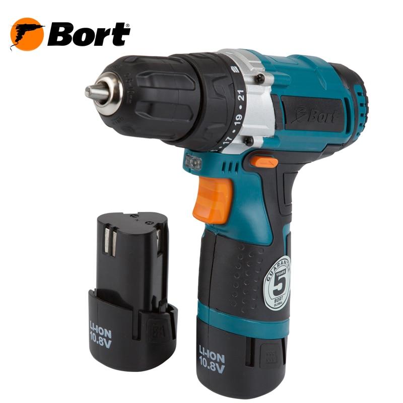10V 12V Bort Li-Ion Lithium Battery Electric Drill Cordless Screwdriver Mini Drill Cordless Screwdriver Power Tools Cordless Drill BAB-10,8N-LiD