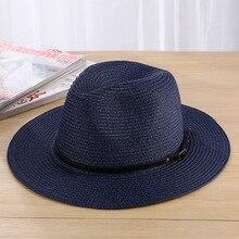 6c6cefcaf9c Seioum Summer Hats For Women Sun Hat Leather Gold Straw Hat Female