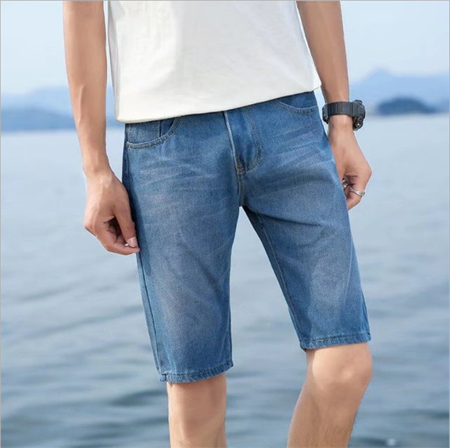 2018 New products Discount Men casual Short jeans Slim Knee Length Casual Business Shorts Jeans Stretch Cotton Fabric Hot