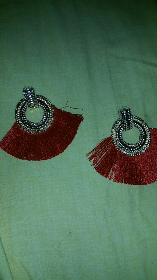 Big Statement Tassel Drop Earrings photo review