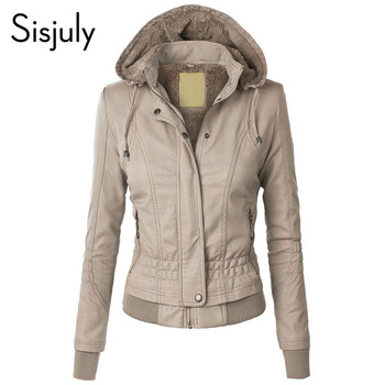 Sisjuly Jacket Coat Women 2019 Winter Slim Zipper Hooded Coat Female Warm Casual Outerwear Solid 2xl Fall Leather Jacket Coats sisjuly 5 l