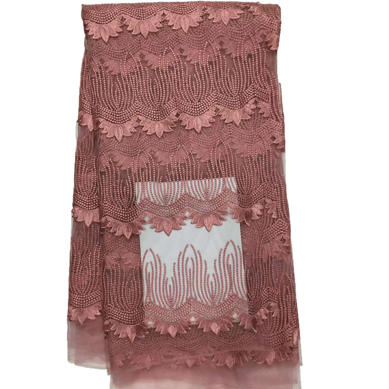 New Arrival 2018 African Lace Fabric for Wedding Nigeria Lace Embroidery Tulle High Quality Pink Net Lace Fabrics X872-3New Arrival 2018 African Lace Fabric for Wedding Nigeria Lace Embroidery Tulle High Quality Pink Net Lace Fabrics X872-3