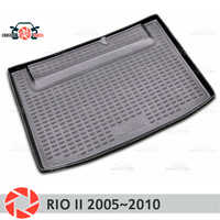 Stamm matte für Kia Rio 2 2005 ~ 2010 stamm boden teppiche non slip polyurethan schmutz schutz innen trunk auto styling