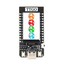 LILYGO®Ttgo t display esp32 wifi e placa de desenvolvimento do módulo bluetooth 1.14 Polegada lcd placa de controle