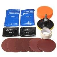 1 Set Headlight Restoration Polishing Tools Kit Car Head Light Motor Cleaner Renew Lens Polish Kit