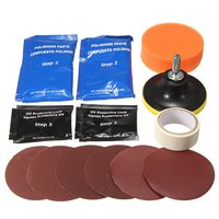 1 Set Headlight Restoration Polishing Tools Kit Car Head Light Motor Cleaner Renew Lens Polish Kit