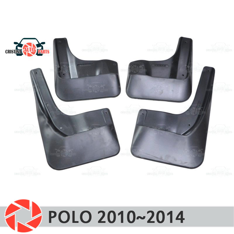 Car mud flaps for Volkswagen Polo Sedan 2010~2014 mudflaps splash guards mud flap front rear mudguards fender car accessories for 1 10 rc buggy front rear wheel rim rubber tyre tires red 66004 66025 for off road car pack of 4 pcs