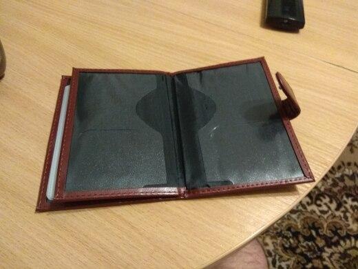 KUDIAN BEAR PU lederen paspoort Cover Russische reizen paspoorthouder Bestuurderslicentie voor document ID kaarthouder -BIH002PM49 photo review