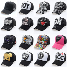 2017 New Fashion Cartoon Hip Hop Baseball Caps Adjustable Fitted Hats Casual Letter Printing Wash Cap For Men Women