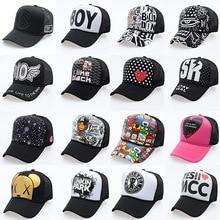 цена на 2019 New Fashion Cartoon Hip Hop Baseball Caps Wholesale Adjustable Fitted Hats Casual Letter Printing Wash Cap For Men Women