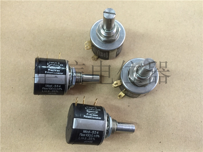 Original new 100% MOD-534 100R 10 circle turn wirewound potentiometer (SWITCH) hellpot 7246 41 0 biaxial multi turn wirewound potentiometers 1k