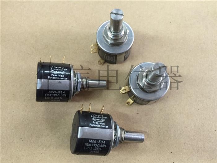 Original new 100% MOD-534 100R 10 circle turn wirewound potentiometer (SWITCH)Original new 100% MOD-534 100R 10 circle turn wirewound potentiometer (SWITCH)