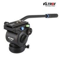 VT-01 Alüminyum Video Kamera Sıvı Hidrolik Panoramik Tripod Başkanı DSLR Kamera Kaymak Monopod Çekim Video Film için