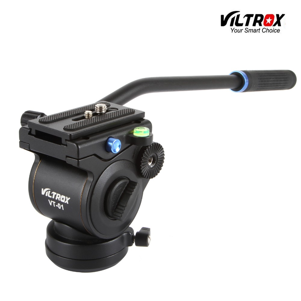 VT-01 Aluminum Video Camera Fluid Hydraulic Panoramic Tripod Head for DSLR Camera Slider Monopod Shooting Video Film rubber seals for fluid and hydraulic systems