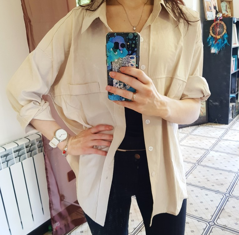 Casual Loose Women Shirts Spring New Fashion Collar Plus Size Blouse Long Sleeve Buttons White Shirt Women Tops Streetwear photo review
