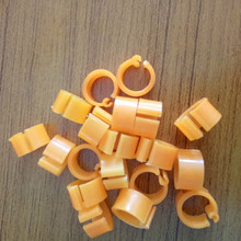 Mix Color 8mm Foot Ring Bands Bird Clip on Leg Rings for Pigeon Dove Chicks Bantam Quail Lovebirds Finch Small Poultry Chicken