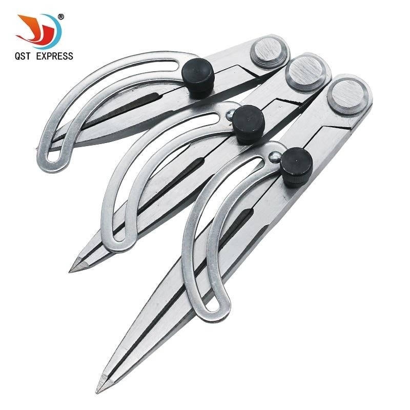QSTEXPRESSLeather Handwerk Herstellung Rotierenden Werkzeug Flügel Teiler Abstand Kompasse Kanten Creaser Möbel DIY Nähen Handgefertigten Werkzeug