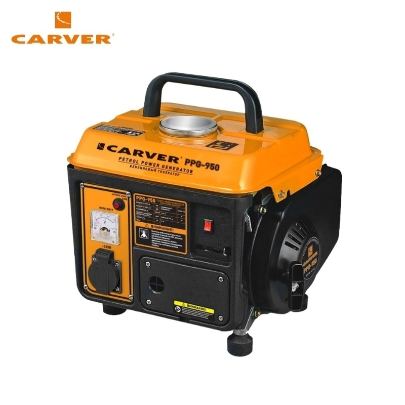 Petrol generator CARVER PPG-950 Power home appliances Backup source during power outages Benzine power stations цена