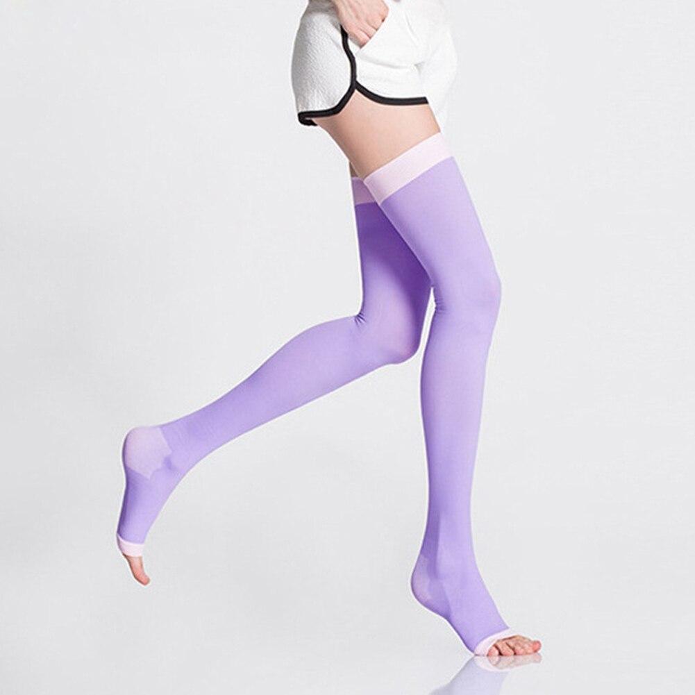 Compression Burn Fat Over Knee Socks Sleeping Overnight Women Slimming Stockings