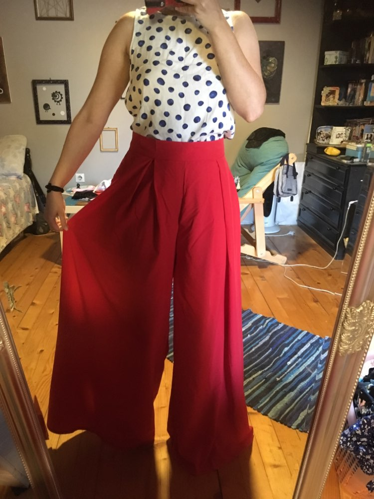 Women Harem Pants Solid Color High Waist Loose Wide Leg Pants Pockets Casual Palazzo Baggy Clubwear Trousers 2Pantalon Femme photo review