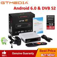 GTmedia GTS Android 6.0 Satellite Receiver 4K TV BOX Combo DVB-S2 Built In WiFi Bluetooth 4.0 Smart Set Top Box with CCCAM IPTV