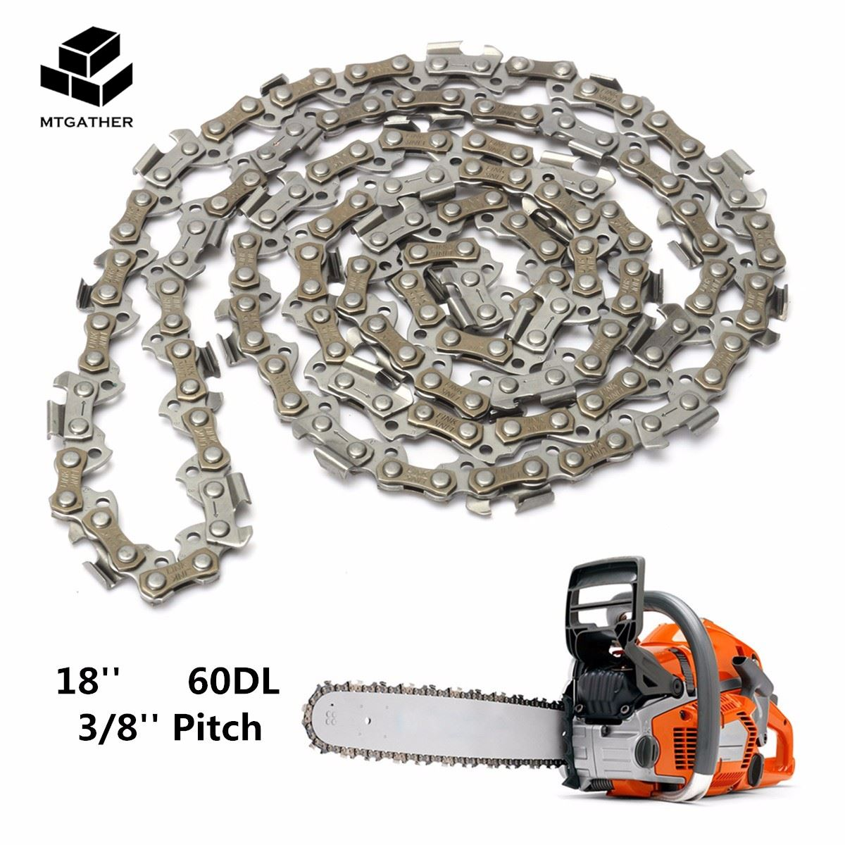 цена MTGATHER Substitution Chainsaw Saw Mill Chain Blade 18'' 60 Drive Link 3/8'' Pitch 050 Gauge for Wood cutting Chainsaw Parts