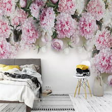 Romantic Peony TV background wall professional production mural wholesale wallpaper mural poster photo wall romantic mediterranean style background wall professional production mural wholesale wallpaper mural poster photo wall