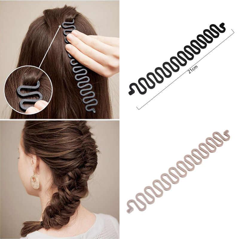 6c635796 M MSIM chica novedad tipo de onda pelo Bun Maker versión coreana accesorios  para el pelo para las mujeres rizos estilo titular rápido plato diademas
